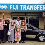 Guests meeting the driver at the Bati Fiji Transfers office